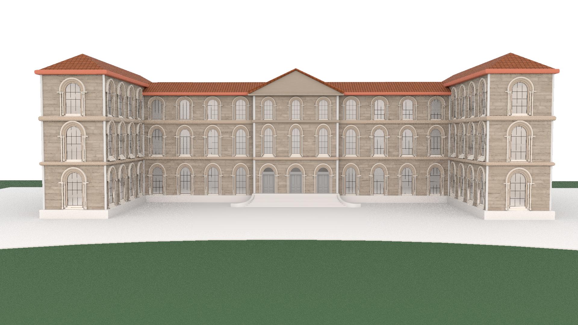 Représentation 3D du Palais Historique par Alga